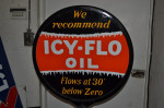 Icy-flo Oil Double-Sided Lollipop Sign