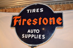 Firestone Double-Sided Porcelain Curb Sign