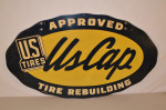 UsCap Tire Double-Sided Tin Diecut Sign