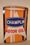Champlin Motor Oil Single-Sided Tin Sign