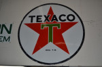 Texaco Double-Sided Porcelain Identification Sign
