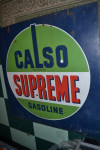 Calso Double-Sided Porcelain Sign