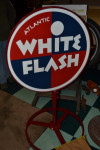 Atlantic White Flash Double-Sided Curb Sign
