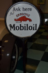 Mobiloil Double-Sided Porcelain Curb Sign