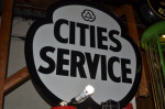 Cities Service Double-Sided Porcelain Diecut Sign
