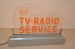 RCA TV-Radio Plastic Lighted Sign