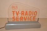 RCA TV-Radio Plastic Lighted Sign
