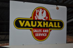 Vauxhall Double-Sided Porcelain Sign