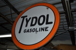 Tydol Gasoline Double-Sided Porcelain Sign