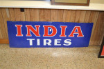 India Tires Single-Sided Porcelain Sign
