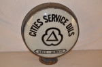Cities Service Lp Metal Globe