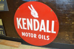 Kendall Motor Oils Double-Sided Tin Sign