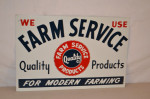 Farm Service Products Single-Sided Tin Sign