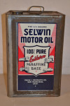Selwin Motor Oil Metal Can