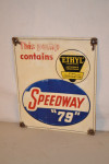 Speedway '79' Single-Sided Tin Embossed Sign