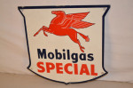 Mobilgas Pump Plate Shield-Shape Sign
