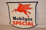 Mobilgas Pump Plate Shield-Shape Sign