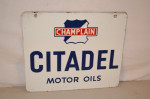 Citadel Motor Oils Double-Sided Porcelain Sign