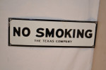The Texas Company Single-Sided Porcelain Sign
